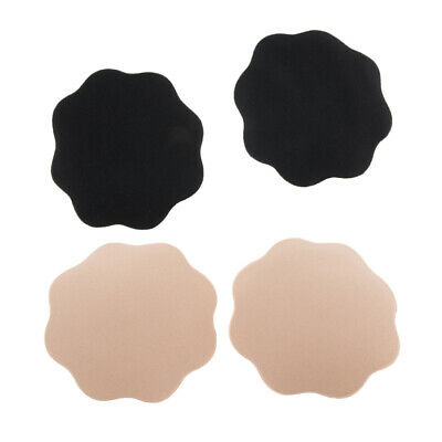 2 Pairs Floral Fabric Nipple Cover Sexy Breast Petals Pasties Disposable