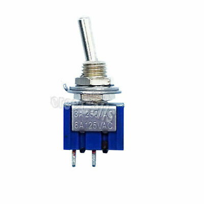 1 pc 2 Pin SPST ON-OFF 2 Position 6A 250VAC Mini Toggle Switches MTS-101
