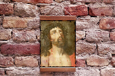 """Christ with Crown of Thorns, Jesus of Nazareth Framed Canvas Print 8.7"""" x 11.8"""""""