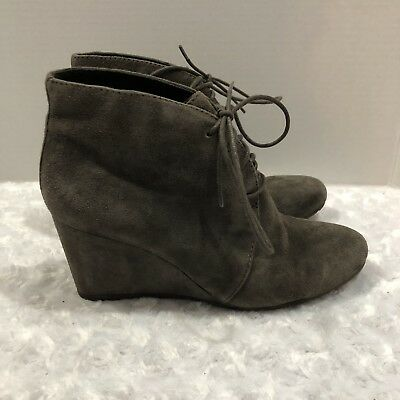 8c8719d6e4d CLARKS Artisan Rosepoint Dew Suede Wedge Bootie Ankle Boots Size 7.5 M Lace  Up
