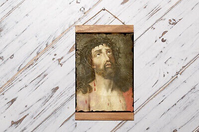 """Christ with Crown of Thorns, Jesus of Nazareth Framed Canvas Print 11.8"""" x 15.7"""""""