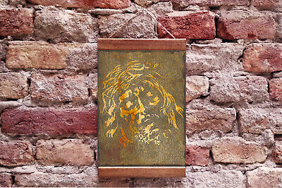 """Christ with Crown of Thorns, Jesus of Nazareth Wood Framed Canvas 8.7"""" x 11.8"""""""