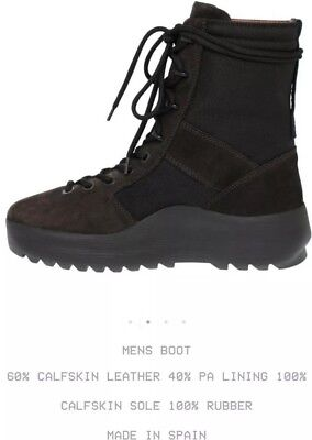 2446452c Yeezy Season 3 Military Boot Onyx Shade Retail $645USD 100% Authentic Size  10 US
