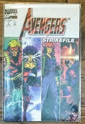 Avengers Strike File Vol. 1, #1 (Marvel, 1994) Vision, Crystal, Black Widow