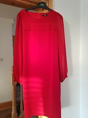 Red party dress size 16