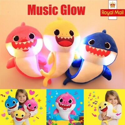Baby Cartoon Shark Teddy Plush Toys Soft Singing Dolls Gift For Kids Boys Girls*