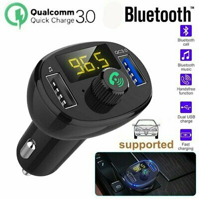 Car Bluetooth Kit FM Transmitter Wireless Radio Adapter USB Charger MP3 Player