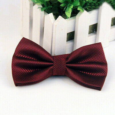 #18 Tuxedo Party Novelty Mens Bowtie Adjustable Tie Solid Color Necktie Classic