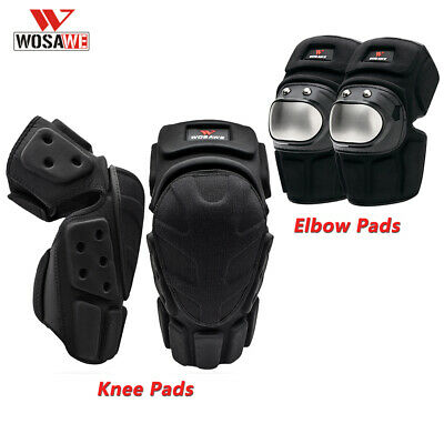 Adult Motorcycle Motorbike Knee&Elbow Guards Braces Protector Pads Sports Safety