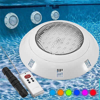 18W Piscine Éclairage Lampe Ampoule Projecteur LED RGB 7 Couleurs IP68 + Remote