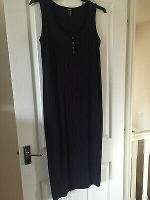 New Look Maternity Midi Dress Navy Blue Summer 16