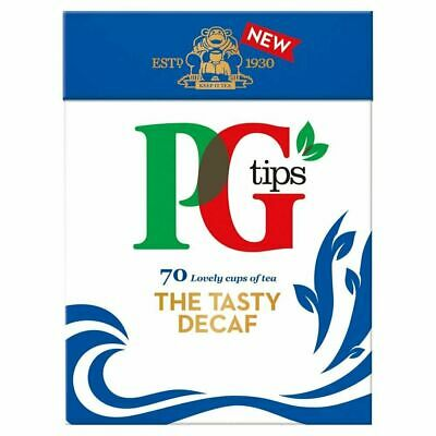 PG Tips Decaf Decaffeinated 70 Pyramid Tea Bags 70 Teabags Per Pack Brand New