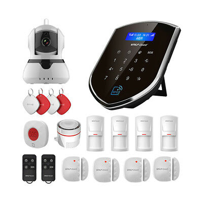 Wolf-Guard LCD Wifi GSM SMS IP Camera Standard Kit for Home Burglar Alarm System