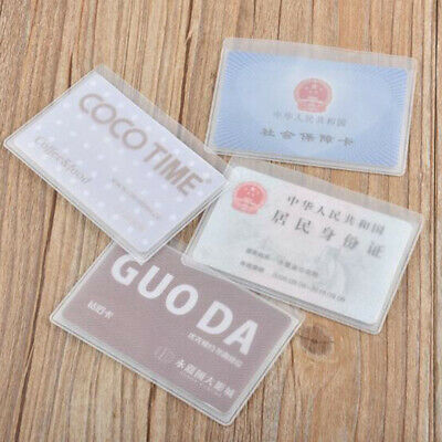 10pcs Plastic Vertical ID Credit Card Holder Protector Sleeve Protection Case