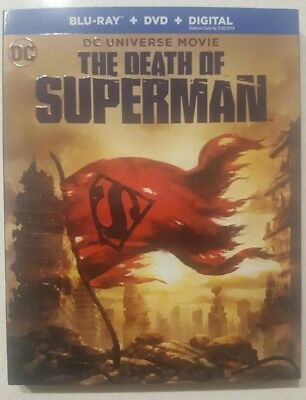 DC Universe Movie The Death Of Superman Blu-ray/DVD w/Slip Cover Jerry O Connell