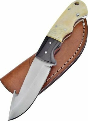"Chipaway 7.25"" Overall Bone Handle Guthook Skinner Fixed Blade Knife CW-016SB/BH"