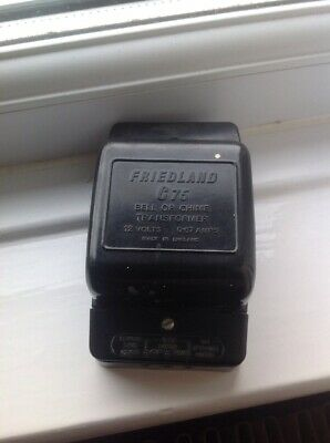 BAKERLITE VINTAGE FRIEDLAND C75 DOOR BELL 230-12v TRANSFORMER Working Condition