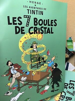 Tintin Wall Poster 50x70cm The Seven Crystal Balls Original from Tintin Store