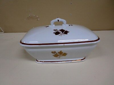 Antique Tea Leaf Wedgwood & Co Royalstone China Covered Footed Tureen