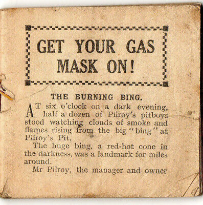 1940. The Hotspur Handy Book No: 13. Get Your Gas Mask On. Pilroy's Pit