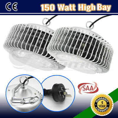 2x 150W LED HIGH LOW BAY WORK LIGHT WAREHOUSE INDUSTRIAL FACTORY WORKSHOP LAMP