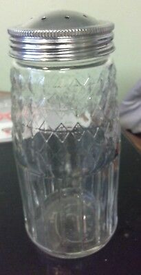 Large vintage design glass sugar/flour shaker 16cm NEW (FREEPOST)