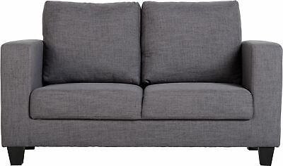 Modern Grey Fabric Sofa 2 Seater Compact - Free Delivery - Excellent Quality