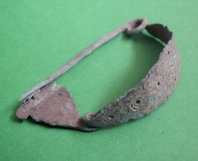 Rare Hallstatt Culture Bronze Fibula Brooch - Complete - Beautiful!