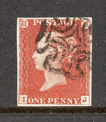1841 1d Red-Brown Plt38 AD IJ J flaw S/Black MX  CAT £125++