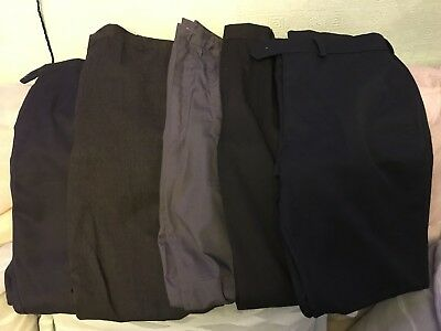Boys School Trouser Bundle Age 11/12 And 28/30  Zeco Banner