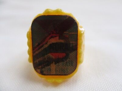 Vintage New York Worlds Fair 1964 Yellow Plastic Monorail Reflector Ring- No Res