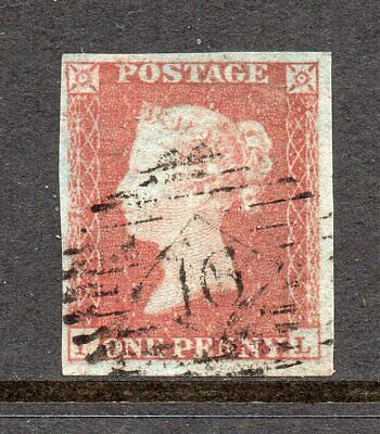SG8A 1d Red-Brown/Very BluePaper Plt126 IL S/Used Example CAT £40++