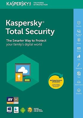 Kaspersky Total Security 2019 Antivirus (1 Device / 1 Year / EU) Fast Delivery