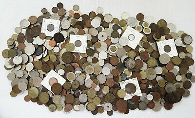 8+ POUNDS of OLD WORLD COINS > HUGE LOT > INTERESTING >SEE PICS > NO RSRV