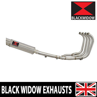 GSX1400 01 - 08 Full Exhaust System 4-1 + Oval Stainless Steel Silencer SG36R