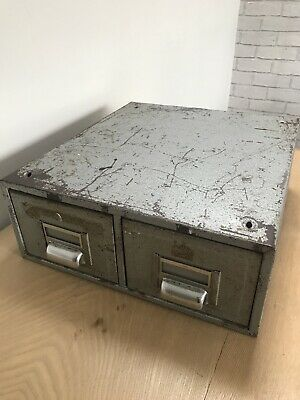 Vintage Metal Filing Drawers