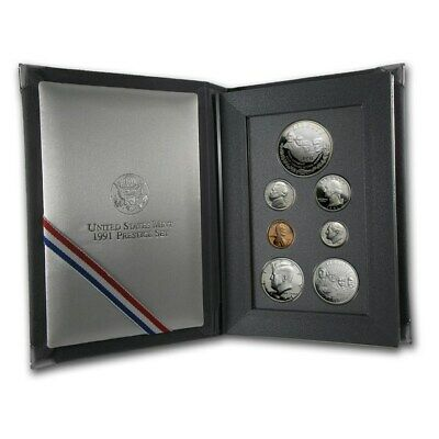 1991 S US Prestige Proof 7 Piece Coin set In original packaging from mint