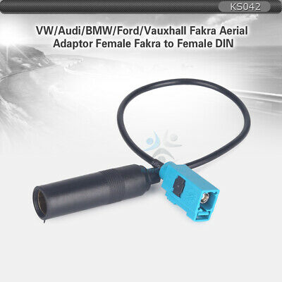 Female Fakra to Female Din Aerial Adaptor for Mercedes BMW Audi VW Ford Vauxhall