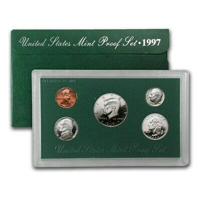 1997 S US 5 Piece set Proof In original packaging from US mint