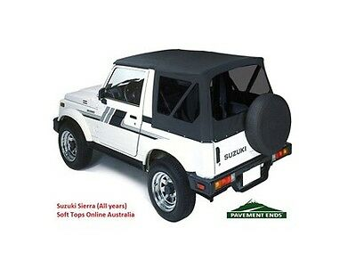 Suzuki Sierra Soft Top 1981-98 - TINTED  Black, NEW, In-stock AUS, FREE delivery
