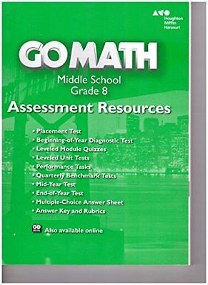 GO MATH TEXAS Grade 6 Assessment Resource with Answers 6th