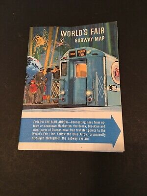 Vintage New York Transit Authority 1964 New York Worlds Fair Subway Map