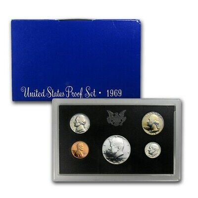 1969 S US 5 Piece set Proof In original packaging from mint Proof