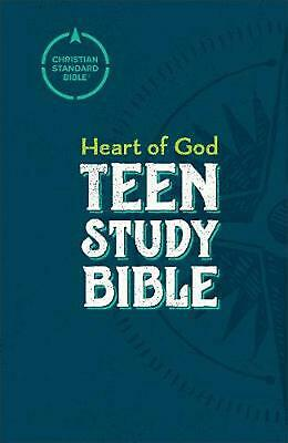 Csb Heart of God Teen Study Bible, Hardcover Hardcover Book Free Shipping!
