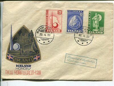 Iceland FDC 30.4.1939