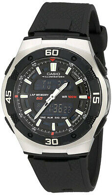Casio Men's Ana-Digi Quartz 100m Stainless Steel/Black Resin Watch AQ164W-1A
