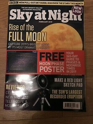 Sky At Night Magazine February 2019 Issue + FREE MOON PHASE POSTER