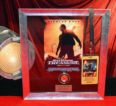Rare NIC CAGE Signed NATIONAL TREASURE Prop, Disney, Frame Blu Ray DVD COA UACC