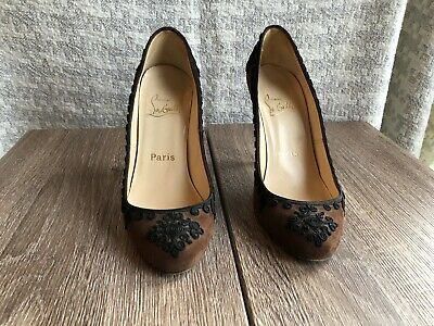 1096692a644 CHRISTIAN LOUBOUTIN BROWN Suede Pumps
