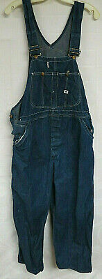 Vintage Denim Overalls Lee Jelt Denim Sanforized Indigo Work 36 X 30